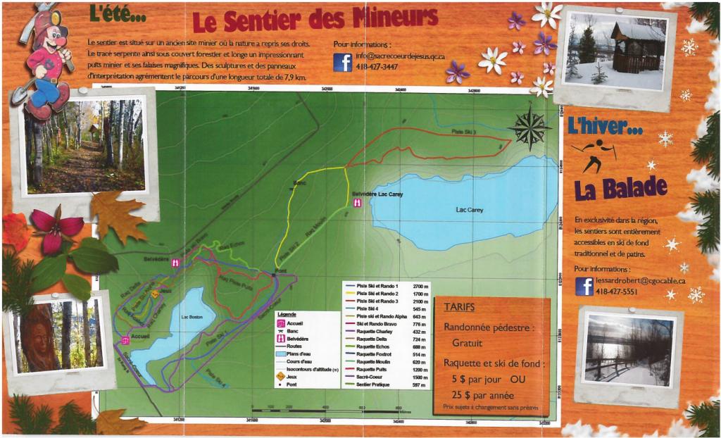 Sentier des Mineurs Map
