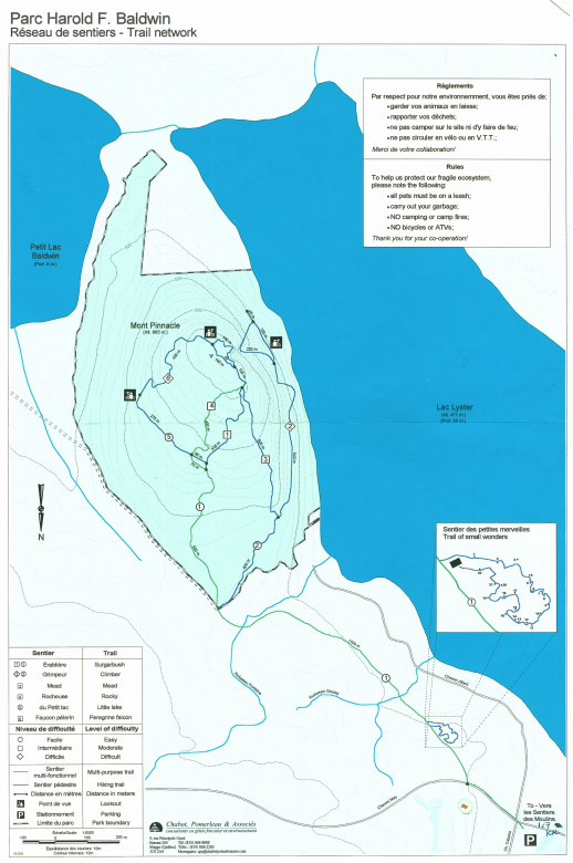 Mount Pinacle Map