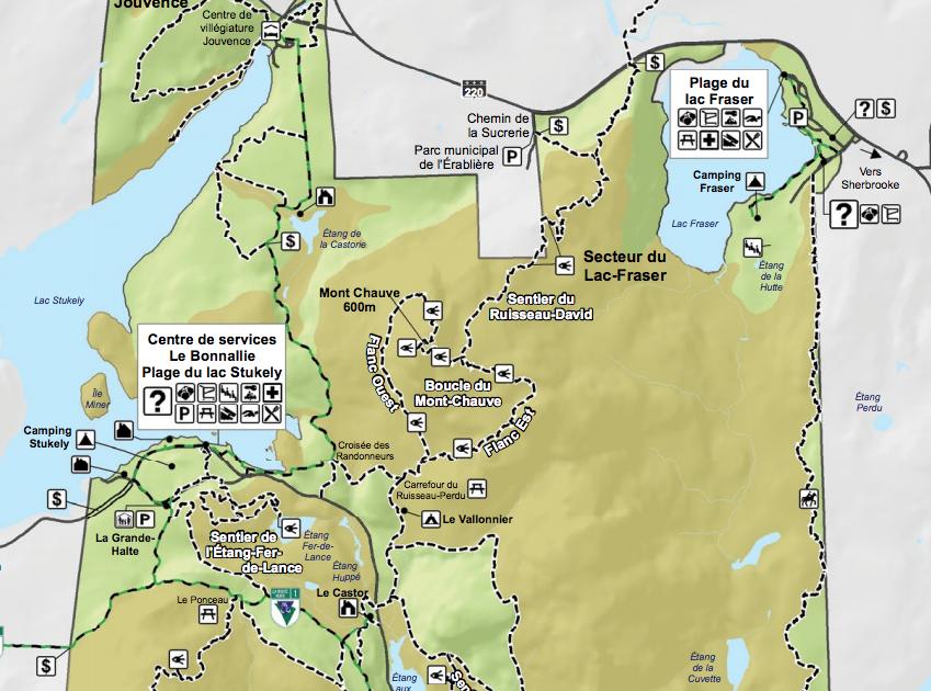 Mont Chauve Map